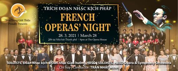 HBSO sẽ mở đầu mùa diễn bằng chương trình Nhạc kịch Pháp vào 20 giờ ngày 28-3-2021 tại Nhà hát thành phố.