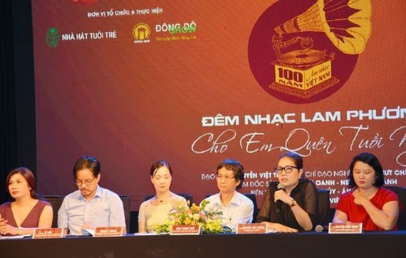 The project's organising board at the press conference on August 9 in Hanoi (Photo: VNA)