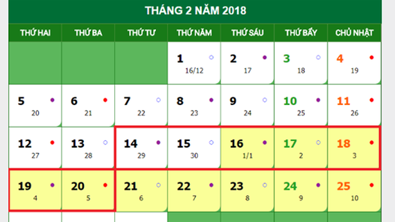 Seven-day Tet holiday announced