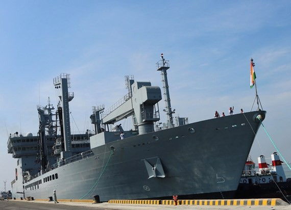 In Indian naval ship  (Photo: Sggp)