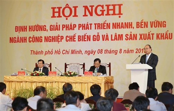 Prime Minister Nguyen Xuan Phuc speaks at the conference (Photo: VNA)