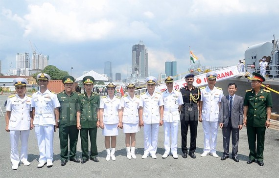 At the welcoming ceremony (Photo: hcmcpv)