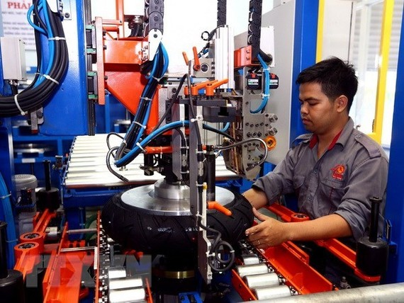 Tyre production chain in Casumina Hoc Mon factory (Source: VNA)