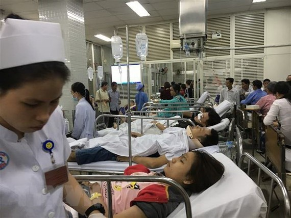 Injured victims being treated at Cho Ray Hospital in HCM City.(Photo: VNA)