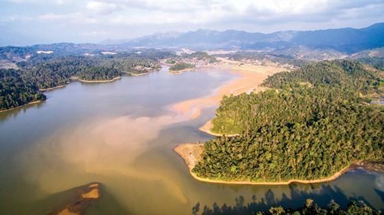 The Mon island in Pa Khoang lake