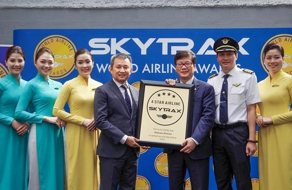 Vietnam Airlines has been certified with a 4-star airline by Skytrax for the fourth consecutive year (Source: Saigon Giai phong)