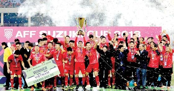Vietnamese football team at AFF Suzuki Cup 2018 (Photo: sggp)