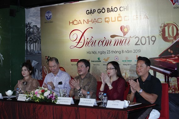 At the press conference of the concert (Photo: sggp)