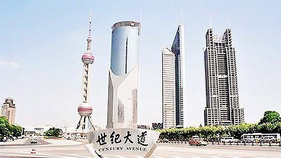 Century Avenue in Shanghai