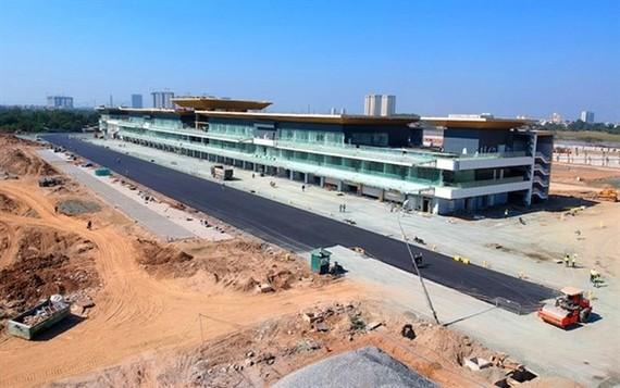 A building under construction for Formula 1 VinFast Vietnam Grand Prix (Photo: organising board)