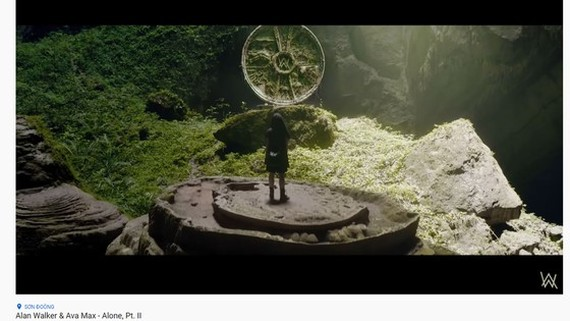 A screenshot from the trailer, showing Son Doong Cave