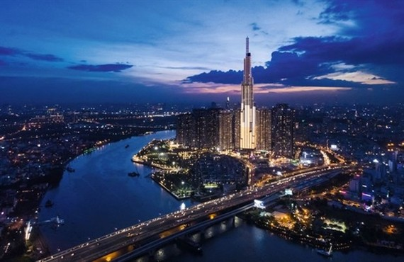 A view of Vingroup's Vincom Centre Landmark 81 in HCM City (Photo: forbesvietnam.com.vn)