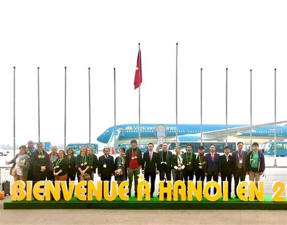 The first foreign tourists of Hanoi in 2020 (Source: VNA)