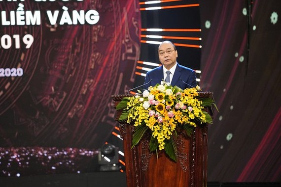 Prime Minister Nguyen Xuan Phuc speaks in the event. (Photo: Sggp)