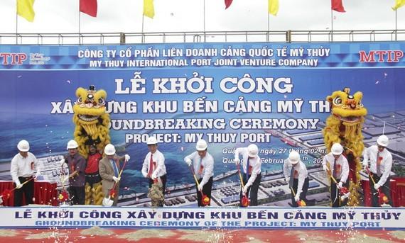 The groundbreaking ceremony of My Thuy International Seaport