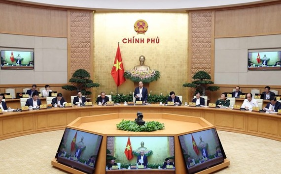 The Government's meeting in Hanoi on March 3 (Photo: VNA)
