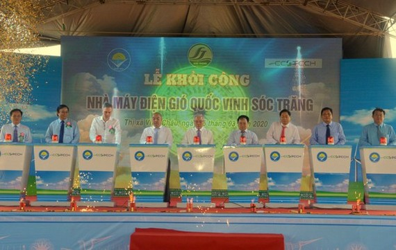 Delegates attend the plant's ground-breaking ceremony. (Photo: SGGP)