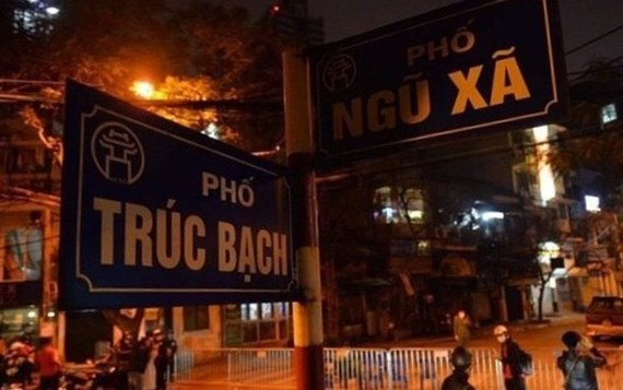 Hanoi's Truc Bach street is locked down since March 6 midnight (Source: VNA)