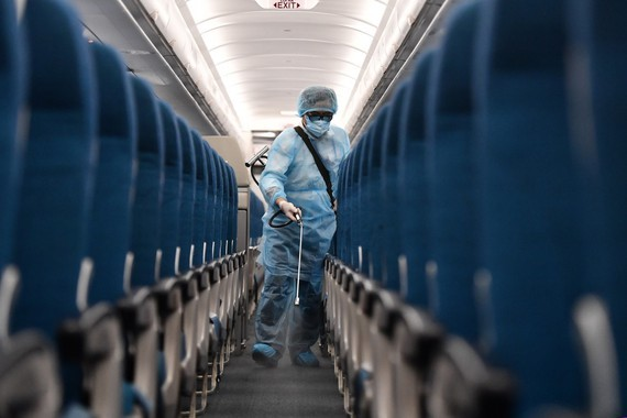 Vietnam Airlines disinfects all aircrafts to prevent Covid-19 spread