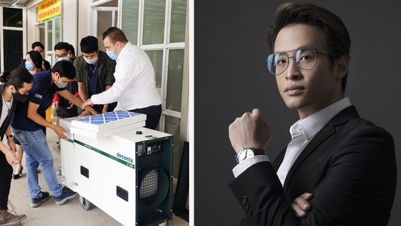Ha Anh Tuan is the first singer who  coordinates with his friends to finance the entire cost of the installation of three negative-pressure isolation rooms.