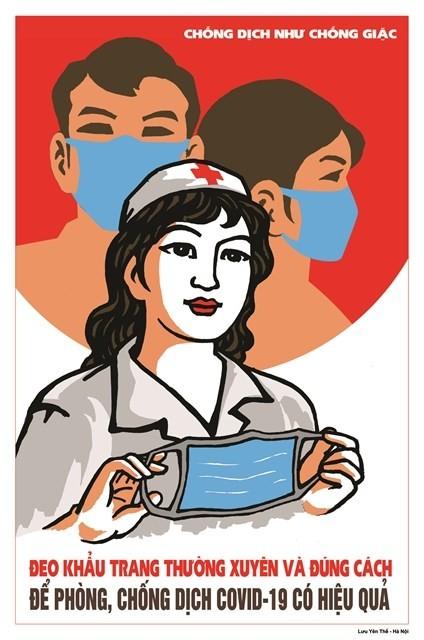 A poster by Hanoi-artist Luu Yen The
