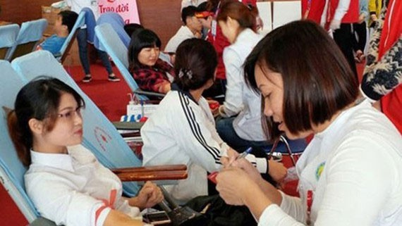 Blood donation amid the COVID-19 pandemic (Photo: SGGP)