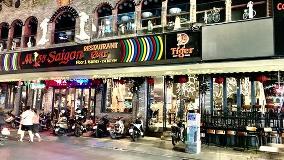 Bui Vien Street called 'backpackers area' of Ho Chi Minh City is empty after the request to shut down all entertainment venues amid COVID-19 of the Municipal People's Committee. (Photo: SGGP)