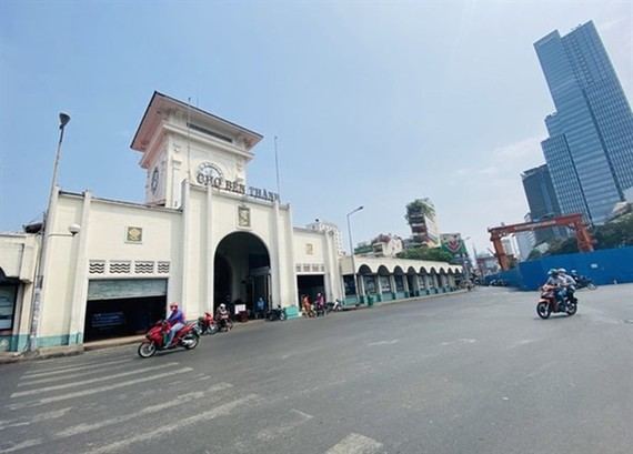 HCM City's streets are empty during the social distancing period from April 1-15 (Source: VNA)