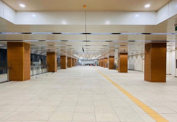 The Municipal Theater four-floor underground terminal linking Nguyen Hue and Dong Khoi streets of Ho Chi Minh City's first metro line (Photo: SGGP)