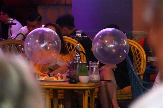 Funky balls are sold at bars and pubs on HCM City's Bui Vien Street. (Photo vietnamdaily.net.vn)