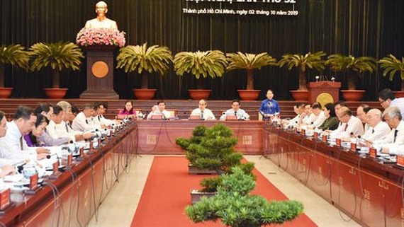 The 42nd session of the 10th-term HCMC Party Executive Committee opens on July 7. (Photo: SGGP)