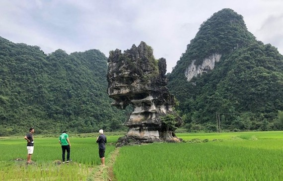 A heritage site in Cao Bang's Trung Khanh district (Photo: VNA)