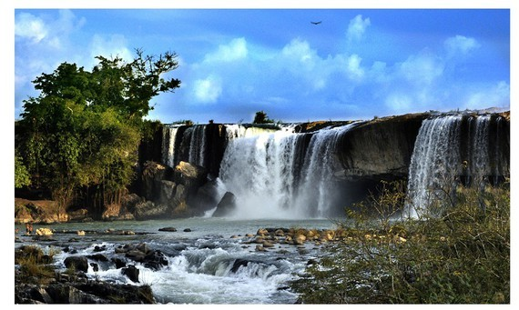 A waterfall in Dak Nong geopark