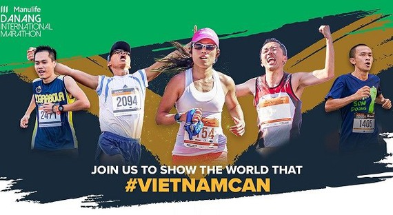 """The 2020 Manulife Da Nang International Marathon will return to the central coastal city from August 7 to 9, with the message """"Vietnam Can"""". (Photo: organiser)"""
