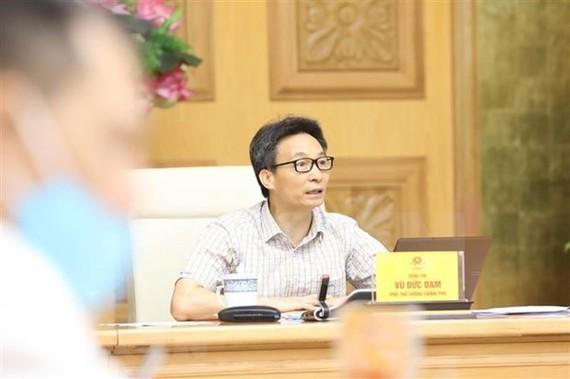 Deputy Prime Minister Vu Duc Dam chairs the meeting (Photo: VNA)