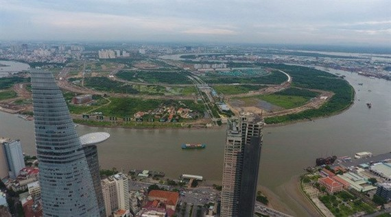 A view of the Thu Thiem new urban area project in HCM City's District 2 (Photo: VNA)
