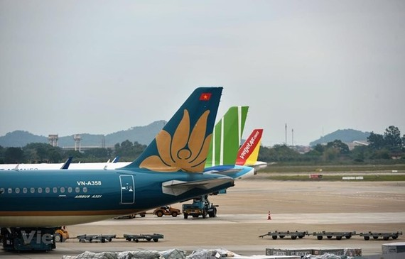 Planes of some Vietnamese airlines (Photo: VNA)