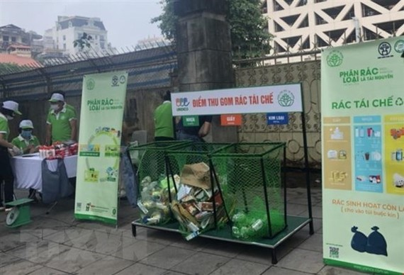 A program lauched to exchange of waste for gifts in HCM City