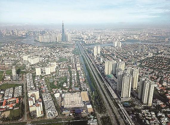 An aerial view of HCMC (Photo: SGGP)