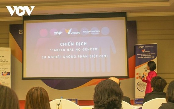 """A campaign called """"Career has no gender"""" has been launched to promote gender equality in workplaces nationwide. (Photo: VoV)"""