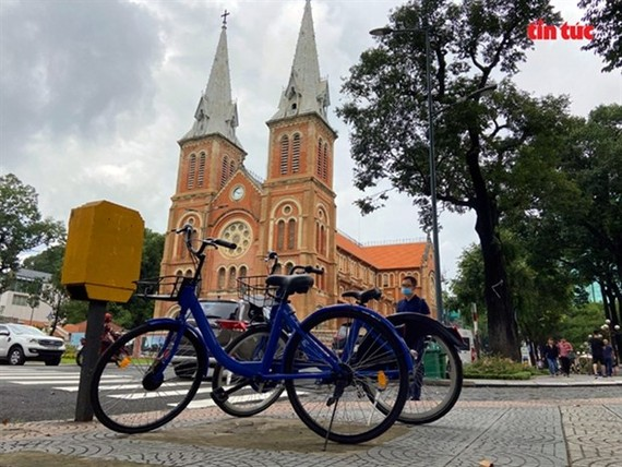 HCMC plans to offer public bicycle rental services in downtown areas this year. (Photo: VNA)