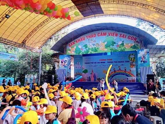 Children participate in the launching ceremony. (Photo: SGGP)