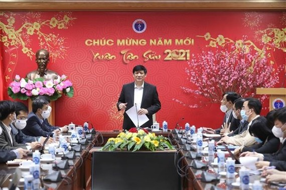 Minister of Health Nguyen Thanh Long speaks at the teleconference on February 5 (Photo: VNA)