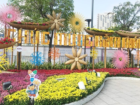 The opening ceremony of the 2021 Nguyen Hue Flower Street, which was scheduled to take place on February 9 (the 28th day of the last lunar month) has been cancelled. (Photo: SGGP)