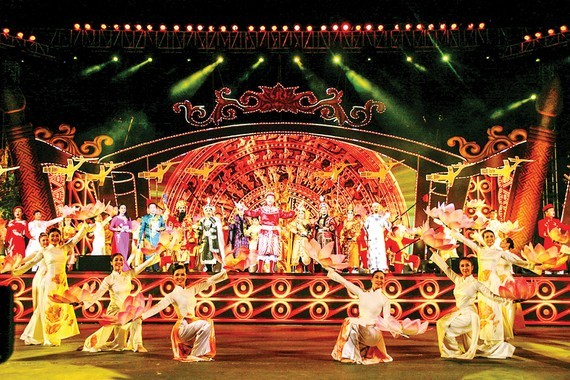 A performance marking the 232nd anniversary of the Ngoc Hoi-Dong Da victory in HCMC