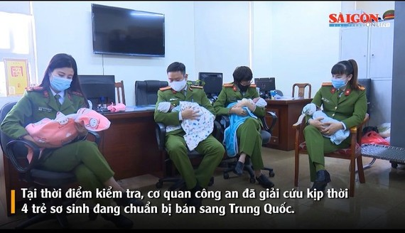 Police rescue four infants.