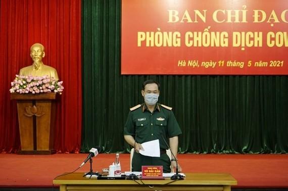 Deputy Minister of Defence Lieut. Gen. Vu Hai San speaks at the meeting. (Photo: qdnd.vn)