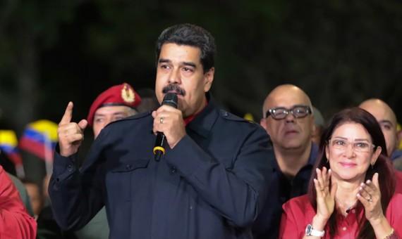 Tổng thống Venezuela N.Maduro tuyên bố sau chiến thắng của các thành viên đảng Xã hội Chủ nghĩa trong cuộc bầu cử thống đốc. Ảnh: EPA