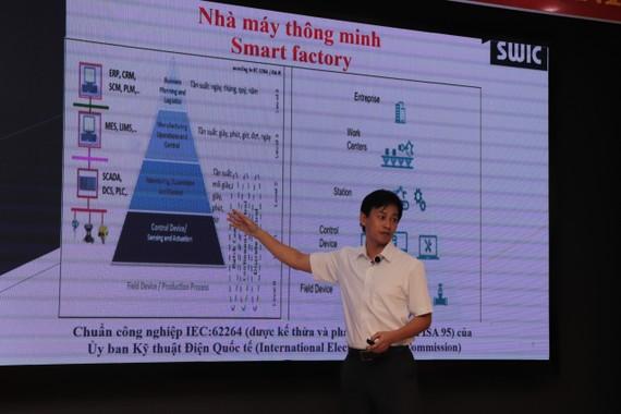 Đại diện SWIC trình bày chuyên đề tại hội thảo