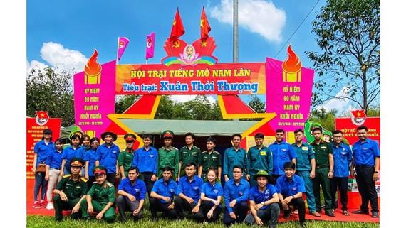 """Đoàn viên, thanh niên tham gia Hội trại """"Tiếng mõ Nam Lân"""" năm 2020"""